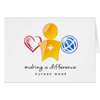 Semana Notecard de las enfermeras Tarjeta