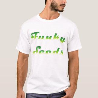 Semillas enrrolladas (blancas) camiseta