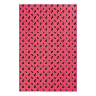 Semillas rosadas de la sandía papel de corcho
