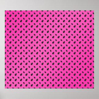 Semillas rosadas de la sandía