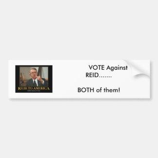 senador-harry-Reid,            VOTO contra REI… Pegatina Para Coche