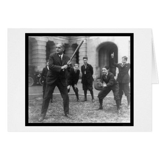 Senador Playing Baseball 1924 Felicitacion