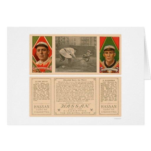 Senadores Baseball 1912 de Elberfeld Tarjetas