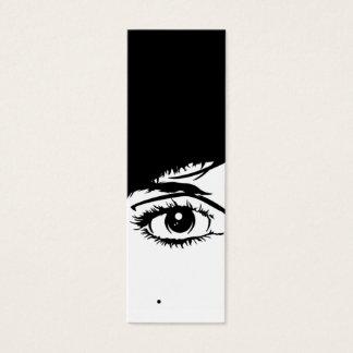 Señal abstracta de la cara de los chicas tarjeta de visita mini