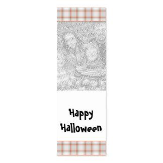 Señal adaptable de la foto de Halloween Tarjeta De Visita