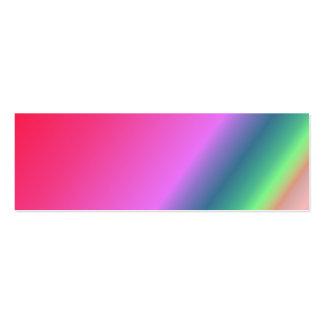 Señal adaptable del arco iris tarjetas de visita mini
