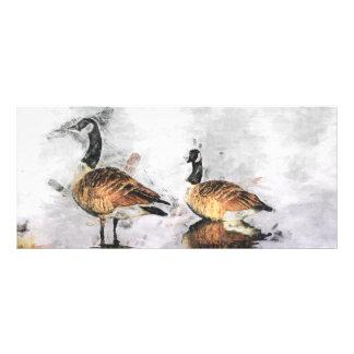 Señal de dos gansos diseños de tarjetas publicitarias