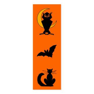 Señal de Halloween Tarjeta De Visita