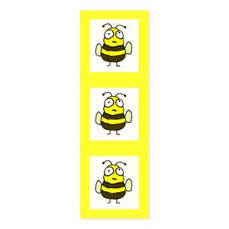 Señal de la abeja tarjetas de visita mini