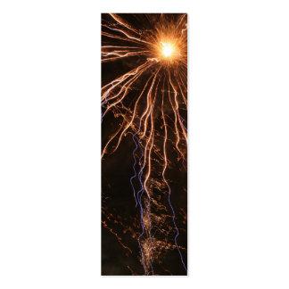 Señal de la electricidad de los fuegos artificiale tarjeta de visita