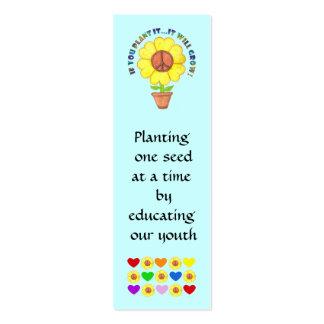 Señal de la paz tarjetas de visita mini