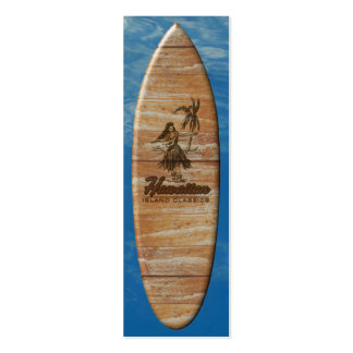 Señal de la tabla hawaiana de la cabaña de la tarjetas de visita