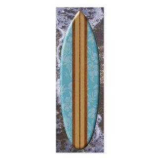 Señal de la tabla hawaiana de la playa de la tarjetas personales