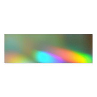 Señal de los fantasmas del arco iris tarjetas de visita mini