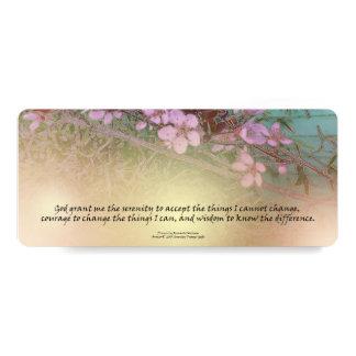 Señal de los flores del ciruelo del rezo de la invitación 10,1 x 23,5 cm