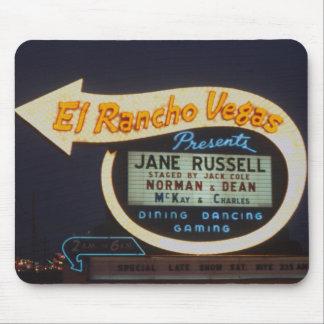 Señal de neón 1959 del casino del EL Rancho Vegas Alfombrilla De Ratón