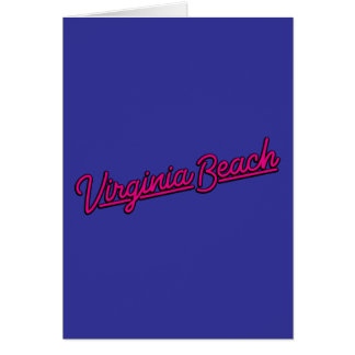 Señal de neón de Virginia Beach en magenta Tarjeta De Felicitación