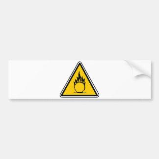 Señal de peligro oxidante pegatina para coche