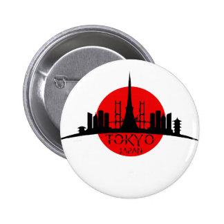 Señal de Tokio Chapa Redonda De 5 Cm