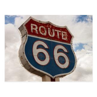 Señal de tráfico de la ruta 66 postal