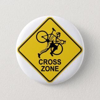 Señal de tráfico de la zona de Cyclocross Chapa Redonda De 5 Cm