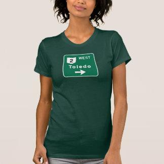 Señal de tráfico de Toledo, OH Camiseta