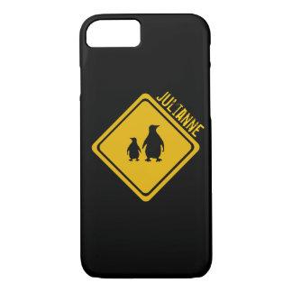 señal de tráfico del pingüino funda iPhone 7