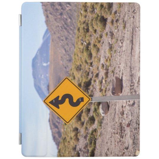 Señal de tráfico en el desierto de Atacama Cubierta De iPad