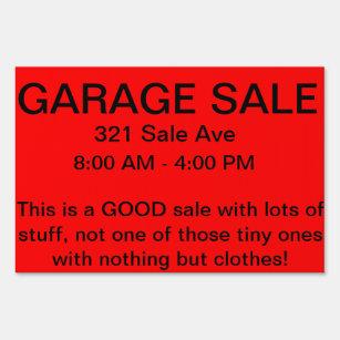 Señal de venta de buen garaje