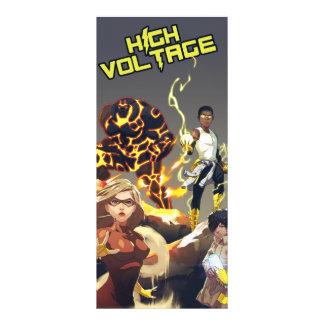 Señal del alto voltaje del equipo diseños de tarjetas publicitarias