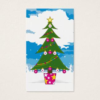 Señal del árbol de navidad tarjeta de negocios