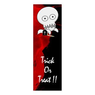 Señal del fantasma tarjetas de visita mini