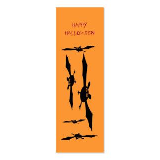 Señal del feliz Halloween Tarjetas De Visita Mini
