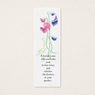 Señal del guisante de olor tarjeta de visita mini