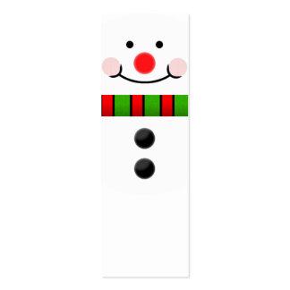 Señal del muñeco de nieve tarjetas de visita mini