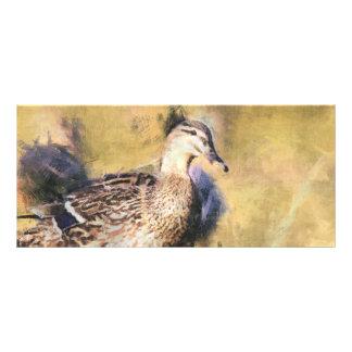 Señal del pato tarjeta publicitaria personalizada