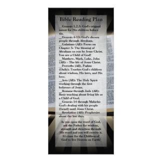 Señal del plan de la lectura de la biblia tarjetas publicitarias