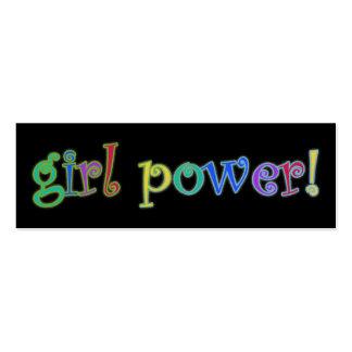 señal del poder del chica tarjetas de visita