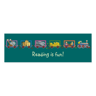Señal divertida del tren tarjetas de visita mini