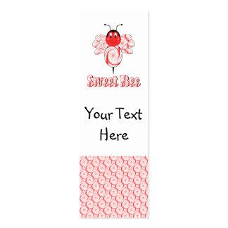 Señal dulce de la abeja tarjetas personales