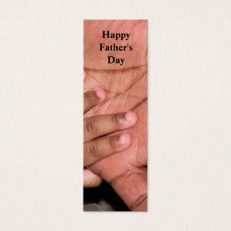 Señal feliz del día de padre tarjeta de visita pequeña