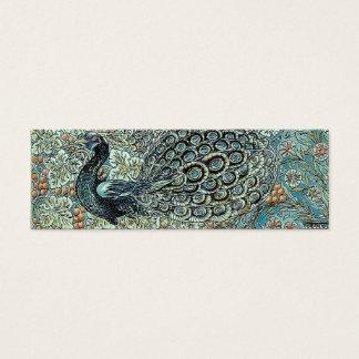 Señal, pavo real de William Morris Tarjeta De Visita Pequeña
