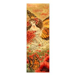 Señal roja de la fantasía de la amapola y del tarjetas de visita mini