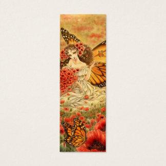 Señal roja de la fantasía de la amapola y del tarjeta de visita pequeña
