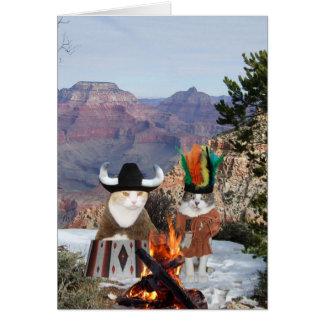 Señales adaptables de los indios w/Smoke del Tarjeta De Felicitación