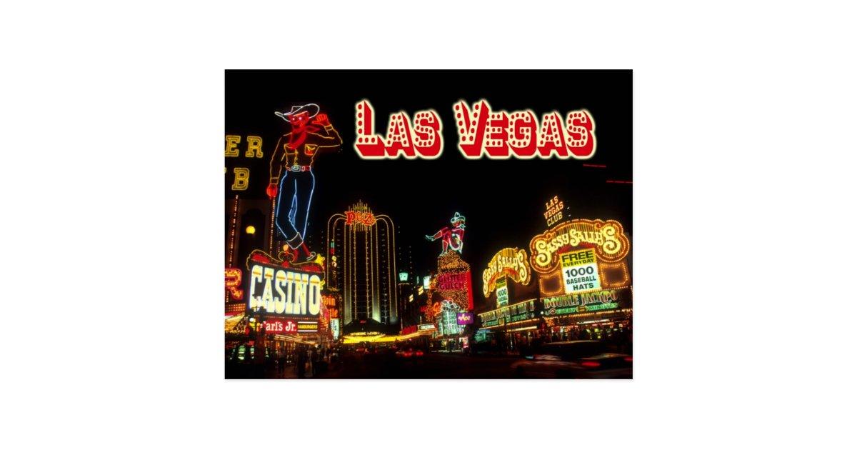 Señales de neón coloridas, Las Vegas, Nevada Postal | Zazzle