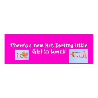 señales del chica de las rosas fuertes tarjetas de visita mini