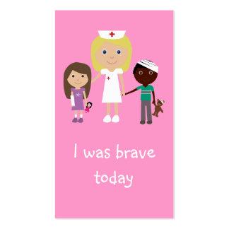 Señales del valor de 100 enfermera, de los niños y tarjetas de visita