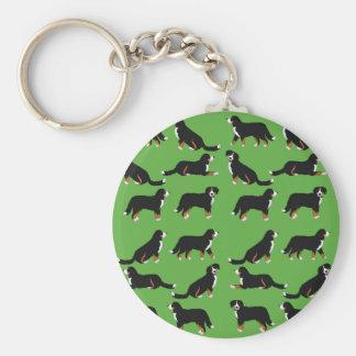 Sennenhund bernesa selección llavero redondo tipo chapa