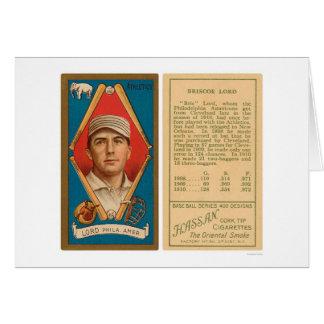 Señor Athletics Baseball 1911 de Briscoe Tarjeta De Felicitación